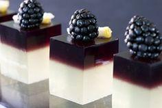 Bramble Jello Shots- Blackberries, Grape gelatin dessert mix, Sugar ...