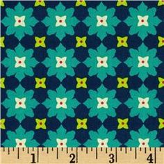 Michael Miller Andalucia Tiny Flower Navy $8.98/yd