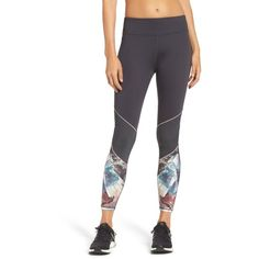 Women's Ted Baker London Minerals Mesh Leggings (1.255 NOK) ❤ liked on Polyvore featuring activewear, activewear pants, mid grey and ted baker