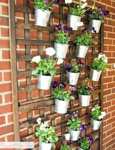 For the porch....DIY Vertical Wall Planter by olga