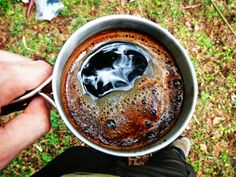 Coffee in the wood