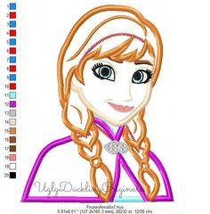 Frozen Anna Princess Machine Embroidery Applique by UDOappliques
