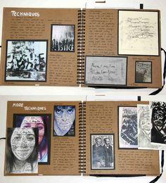 AS Graphics Square Sketchbook, Techniques Brainstorm, ESA - Relationships, Thomas Rotherham College, 2014 A Level Art Sketchbook Layout, Square Sketchbook, Gcse Art Sketchbook, Fashion Sketchbook, A Level Photography, Book Photography, Sketchbook Inspiration, Sketchbook Ideas, Art Pad