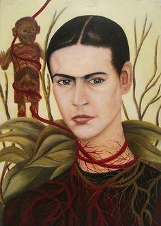 Oil painting _ Pintura al Oleo - Frida Kahlo
