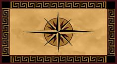 Mariner's Compass Stencil | Mariner's Compass with Greek Key