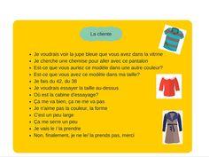 J'aime le français: Actes de communication. La cliente