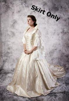 ... Wedding Skirt Renaissance Medieval Costume Custom Princess Fairy Dress Renaissance Wedding Dresses, Wedding Skirt, Medieval Costume, Fairy Dress, Victorian, Costumes, Princess, Skirts, Image