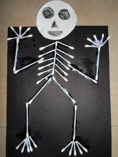 14 best skeleton craft images in 2013 Preschool Science, Science Activities, Preschool Activities, Body Preschool, Science Week, Elementary Science, Letter X Crafts, Alphabet Crafts, Skeleton Craft