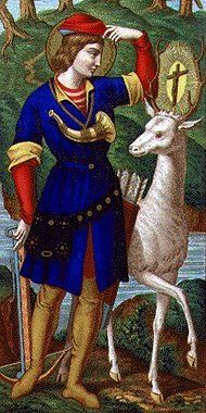 St Hubert is also the patron saint of conversion. He had a vision while hunting on Good Friday.
