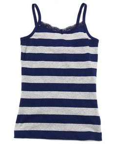 Buy STRIPED CAMI W/ LACE TRIM (7-16) Girls Tops from La Galleria. Find La Galleria fashions & more at DrJays.com