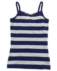 Buy STRIPED CAMI W/ LACE TRIM (7-16) Girls Tops from La Galleria. Find La Galleria fashions & more at DrJays.com