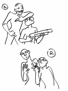 Draw your otp/ocs with weapons