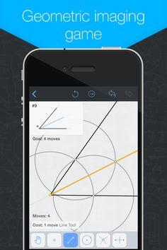 Geometric imagin game ( education game app for geometry lovers) iphone App Store ScreenShots