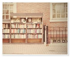 Book Shop Photograph - 8x10 print - Boston Photography - JillianAudreyDesigns via Etsy #fpoe