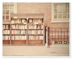 Book Shop Photograph - 8x10 print - Boston Photography - JillianAudreyDesigns via Etsy #fpoe