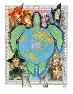 Discworld Characters, Magic Wings, Terry Pratchett Discworld, Imaginary Maps, Tea And Books, Color Magic, Fantasy Map, Vinyl Toys, Book Fandoms