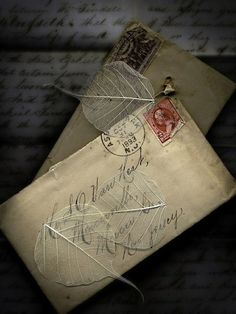 Vintage love letters from 1893