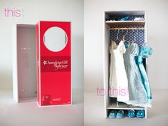 ~Ruffles And Stuff~: Tutorial: Doll Box into Dolly Closet!