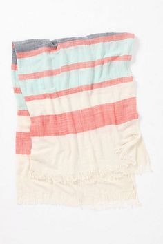 Crinkled-Stripe Throw / anthropologie