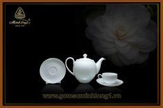 Bộ Trà Cao cấp - Gốm Sứ Minh Long 1: Bộ trà 0.5L Came Trắng 01503800003