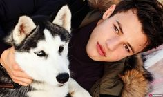 Happy National Puppy Day from Cameron Dallas and his Siberian Husky <3
