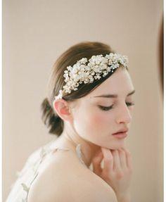Wedding Hair Accessories For Bride Hair Jewelry Pearl Headdress Leaf Head Piece Pearl Rhinestone Bridal Headband SL Wedding Headband, Bridal Tiara, Bridal Headpieces, Bridal Crown, Bridal Fascinator, Pearl Headband, Bridal Headbands, Pearl Headpiece, Crystal Headband