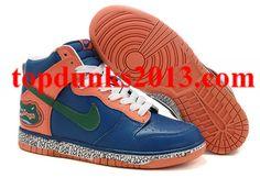 Popular Croc Dark Green Old Blue Nike Dunk High Top Men