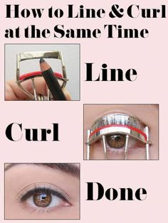 Line and curl your lashes at the same time! #BeautyRoutine30S Beauty Routine Calendar, Beauty Routine 30s, Korean Skincare Routine, Skin Care Regimen, Skin Care Tips, Diy Beauty, Beauty Hacks, Beauty Tips, Beauty Makeup
