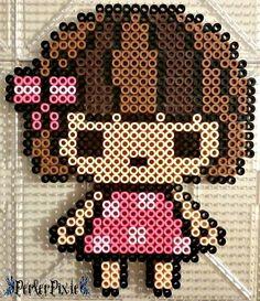 Girl perler beads by PerlerPixie