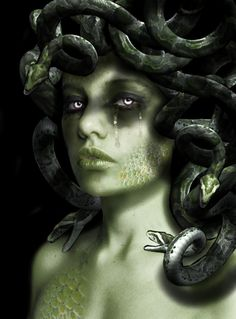 """fuckyeahpaganism: """" Medusa {Greek} considered to be a monster, a Gorgon. """"In a late version of the Medusa myth, related by the Roman poet Ovid (Metamorphoses Medusa was originally a. Medusa Kunst, Medusa Art, Medusa Gorgon, Medusa Tattoo, Mythological Creatures, Mythical Creatures, Dark Fantasy Art, Dark Art, Medusa Pictures"""