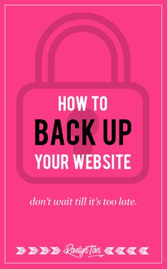 A simple, step-by-step tutorial on how to backup your WordPress website. Let's back that site up and secure it. Written for non-techies.