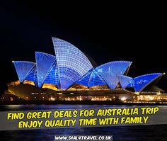 Australia can be one of the best places to spend family time on vacations. So, get the best deal to make your vacation memorable. Call at : 0207 183 5844 Best Airfare Deals, Quality Time, Australia Travel, Great Deals, The Good Place, Vacations, How To Memorize Things, Good Things, Places
