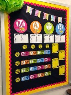 Terrific math bulletin board idea!