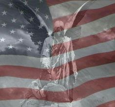An Awesome Patriotic Angel. #American_Flag