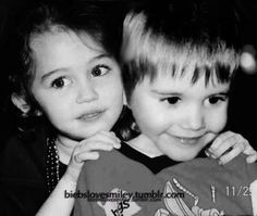 Justin bieber Miley Cyrus SEE GUYS!!' We've known eachother from kids it's all fine!