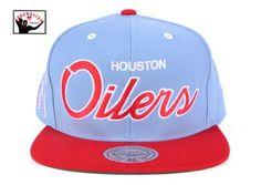 517ec88b469 Houston Oilers Throwback Script Snapback Hat Houston Oilers