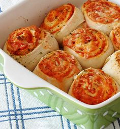 Pizza Roll Ups - A delicious homemade pizza recipe that taste just like your favorite cheesy slice.