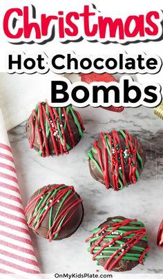 Christmas Sprinkles, Christmas Snacks, Holiday Treats, Christmas Baking, Holiday Foods, Holiday Baking, Christmas Candy, Holiday Recipes, Chocolate Bomb
