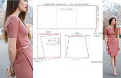 Pattern Skirt, Dress Patterns, Pattern Cutting, Diy Fashion, Upcycle, Sewing, Skirts, Cotton, Clothes