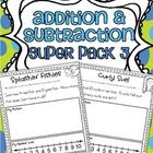 Addition and Subtraction Word Problems {Super Pack 3} 20 NEW word problems {10 addition and 10 subtraction}!$ Click {...