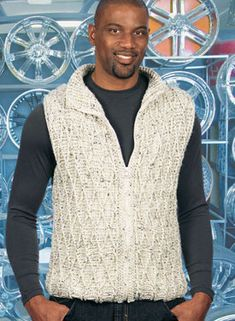 Zip-It Cabled Crocheted Vest Pattern - Knitting Patterns and Crochet Patterns from KnitPicks.com - 1.99 pattern