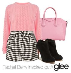 """""""Rachel Berry inspired outfit/Glee"""" by tvdsarahmichele ❤ liked on Polyvore featuring Warehouse, sass & bide and Salvatore Ferragamo"""