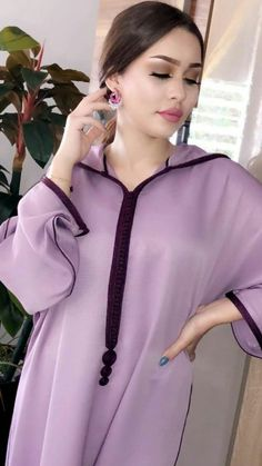 Jellaba Morrocan Kaftan, Moroccan Dress, Abaya Style, Morrocan Fashion, Caftan Gallery, Kaftan Gown, Beautiful Long Dresses, Muslim Beauty, Beautiful Muslim Women