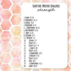 Scripture Writing Challenge - Verses about Strength
