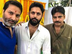 Nithin-Pawan-Trivikram New Movie Launch Photos - VIZAGTALKIES.COM