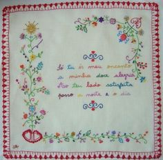 Portuguese embroidery traditional design.