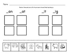 Free: Sorting : Word Families