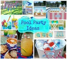 Five great pool party ideas to give you inspiration to celebrate the summer with style!  They are refreshing, fun and oh so appealing for the summer heat!