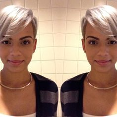 Cutie! @shepictures | #thecutlife #shorthair #pixie #beauty #stunner ✂️ #Padgram