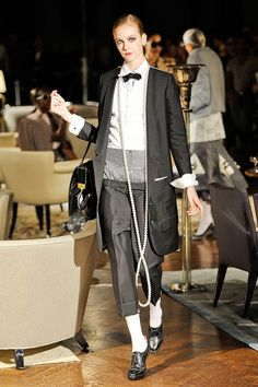See the entire collection from the Thom Browne Spring 2012 Ready-To-Wear runway show. Suit Fashion, Fashion Beauty, Thom Browne, Spring Collection, Powerful Women, Suits For Women, Business Women, Beautiful Outfits, Ready To Wear